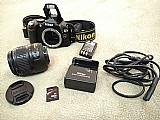 Camera nikon d40x – com lente nikkor 18-35mm ed 1:3.5-5.6g ii